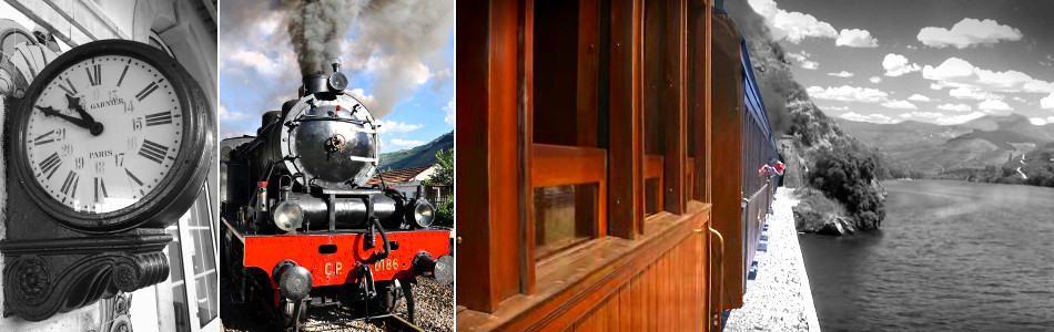 Historic Steam Train in Douro Valley